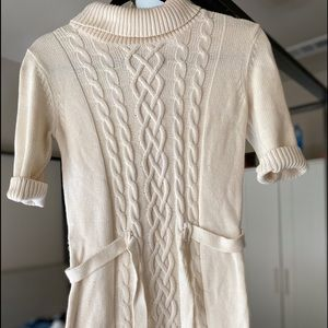 Knitted cream dress